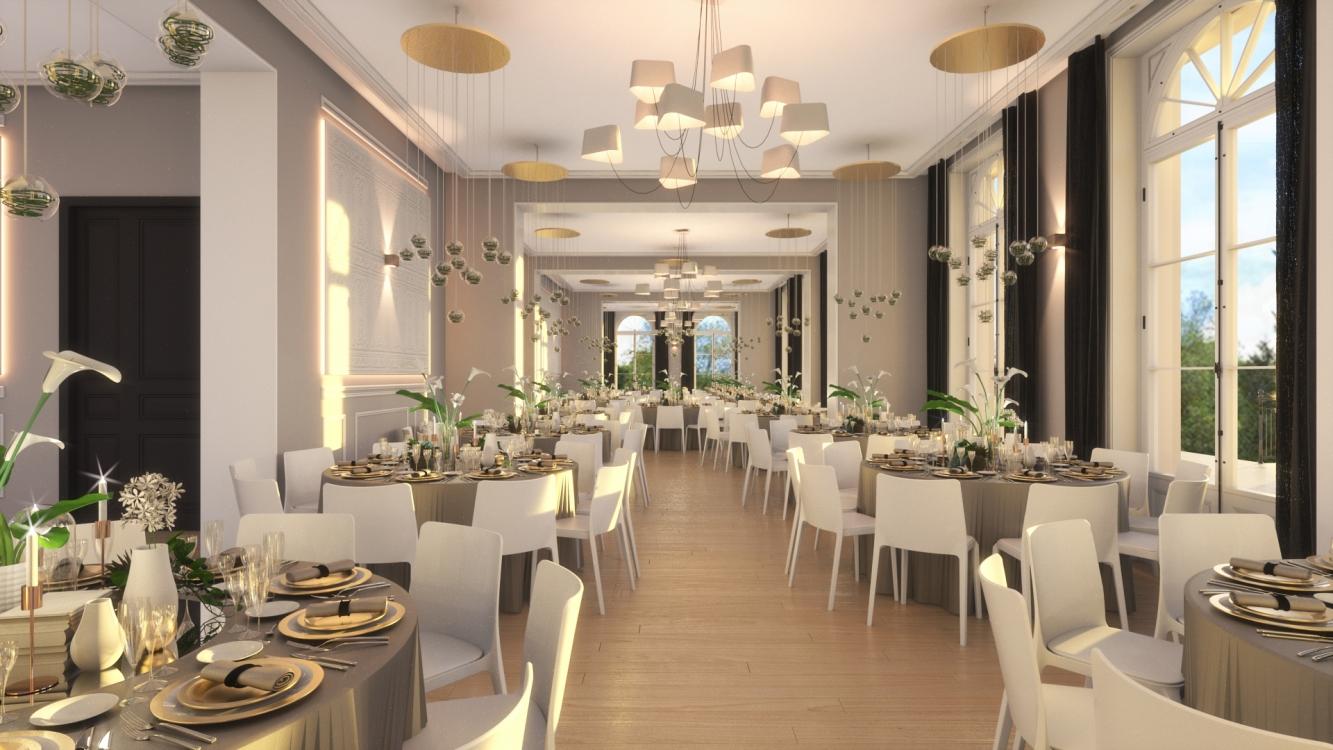 Ed El Architecture Salle De Reception A Cormeilles En Vexin 95